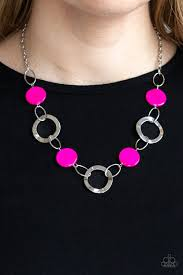 Be Adored Jewelry Bermuda Bliss Pink Paparazzi Necklace