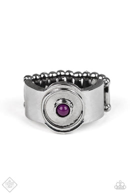 Paparazzi Can't BEAD That - Purple Ring - Be Adored Jewelry