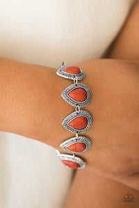 Paparazzi Canyon Creek - Orange Bracelet - Be Adored Jewelry