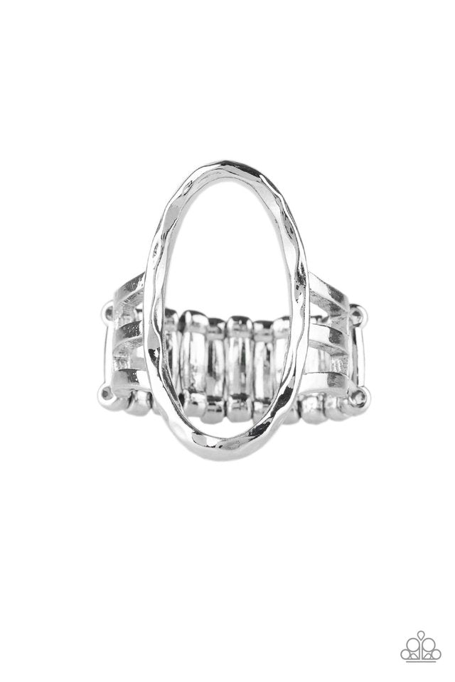 Paparazzi Center Chic - Silver Ring - Be Adored Jewelry