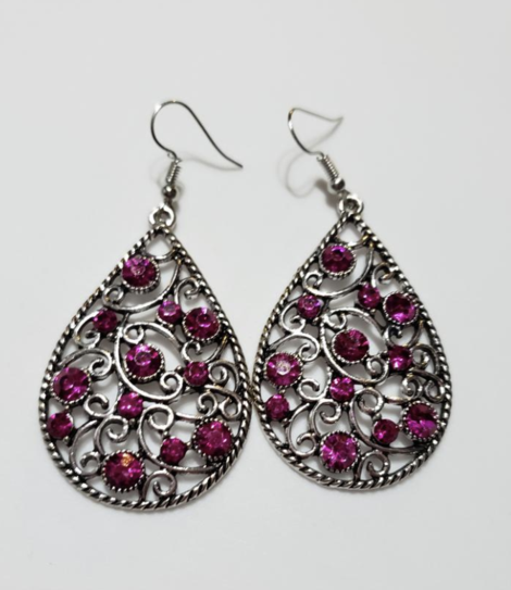 Paparazzi Certainly Coutier - Pink Earring - Be Adored Jewelry