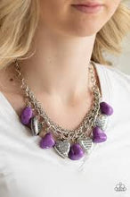 Load image into Gallery viewer, Be Adored Jewelry Change of Heart Paparazzi Purple Necklace