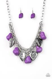 Be Adored Jewelry Change of Heart Paparazzi Purple Necklace