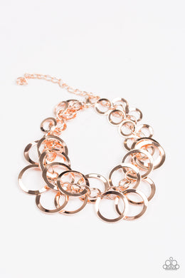 Paparazzi Circus Cabaret - Rose Gold Bracelet - Be Adored Jewelry