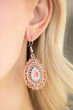 Load image into Gallery viewer, City Chateau - Orange Paparazzi Earring - Be Adored Jewelry