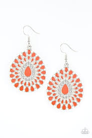 City Chateau - Orange Paparazzi Earring - Be Adored Jewelry