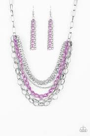 Color Bomb - Paparazzi Purple Necklace - Be Adored Jewelry