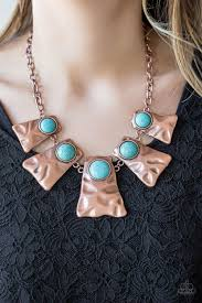 Cougar - Paparazzi Copper Necklace - Be Adored Jewelry