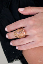 Load image into Gallery viewer, Paparazzi Dazzle Daze - Copper Ring - Be Adored Jewelry