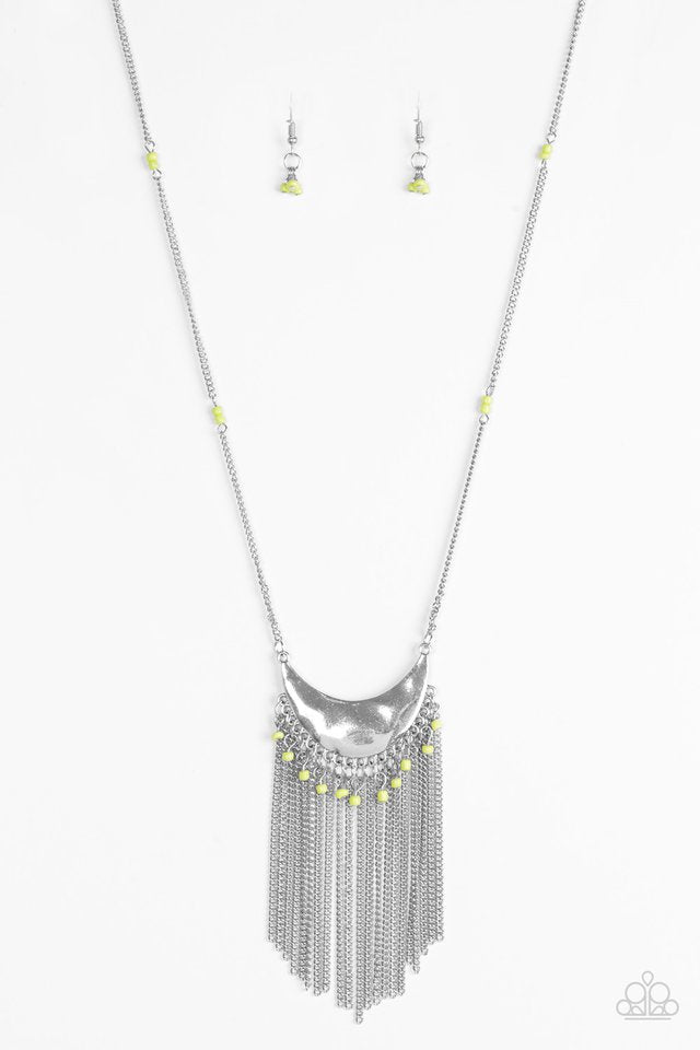 Paparazzi Desert Trance - Green Necklace - Be Adored Jewelry