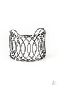 Paparazzi Dizzingly Diva - Black Cuff Bracelet - Be Adored Jewelry