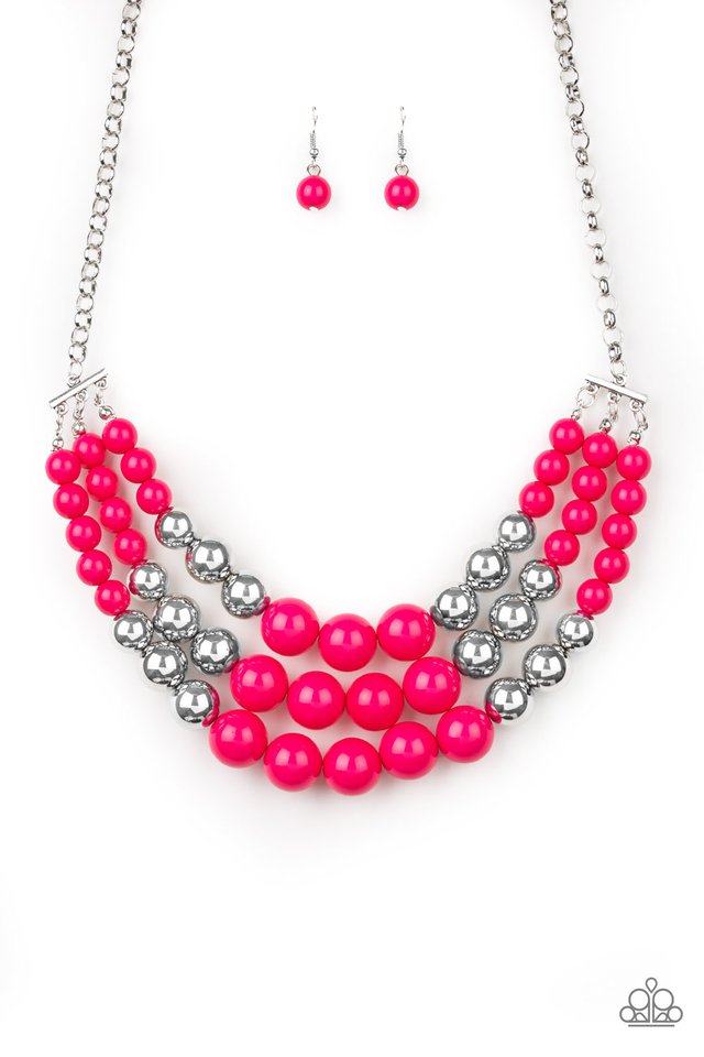 Paparazzi Dream Pop - Pink Necklace - Be Adored Jewelry
