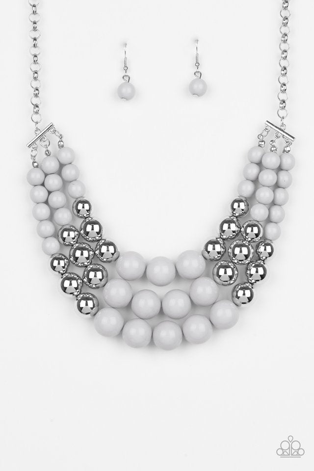 Dream Pop - Paparazzi Silver Necklace - Be Adored Jewelry