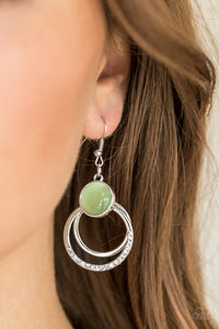 Paparazzi Dreamily Dreamland - Green Earring - Be Adored Jewelry
