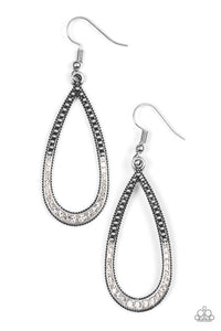 Paparazzi Dripping In Diamond - White Earring - Be Adored Jewelry