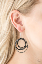 Load image into Gallery viewer, Elegantly Entangled - Paparazzi Black Earring - Be Adored Jewelry