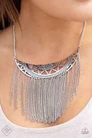 Empress Excursion - Paparazzi Silver Necklace - Be Adored Jewelry