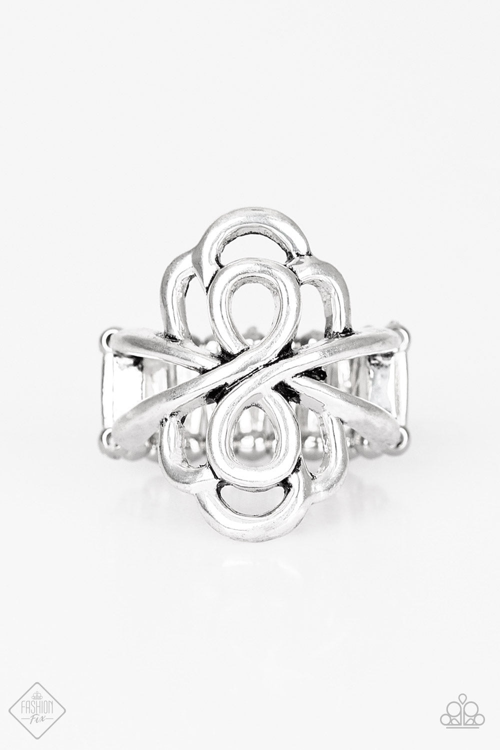 Ever Entwined - Paparazzi Silver Ring - Be Adored Jewelry