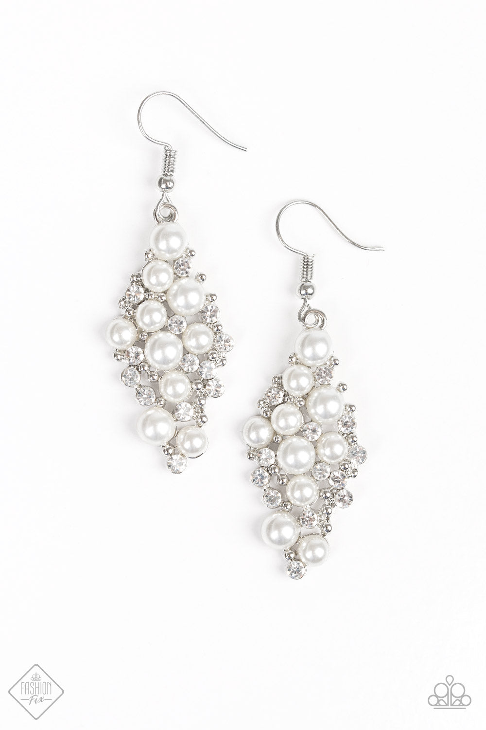 Famous Fashion - Paparazzi White Earring - Be Adored Jewelry