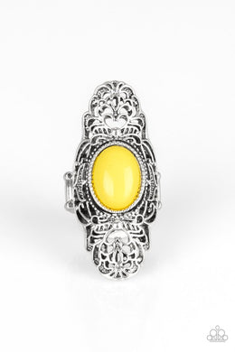 Paparazzi Flair For The Dramatic - Yellow Ring - Be Adored Jewelry