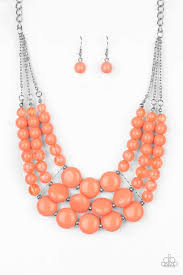Be Adored Jewelry flirtatiously fruity orange paparazzi necklace