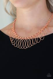 Fringe Finale - Paparazzi Copper Necklace - Be Adored Jewelry