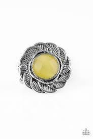 Gardenia Glow - Paparazzi Yellow Ring - Be Adored Jewelry