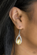 Load image into Gallery viewer, Gatsby Grandeur - Paparazzi Yellow Earring - Be Adored Jewelry