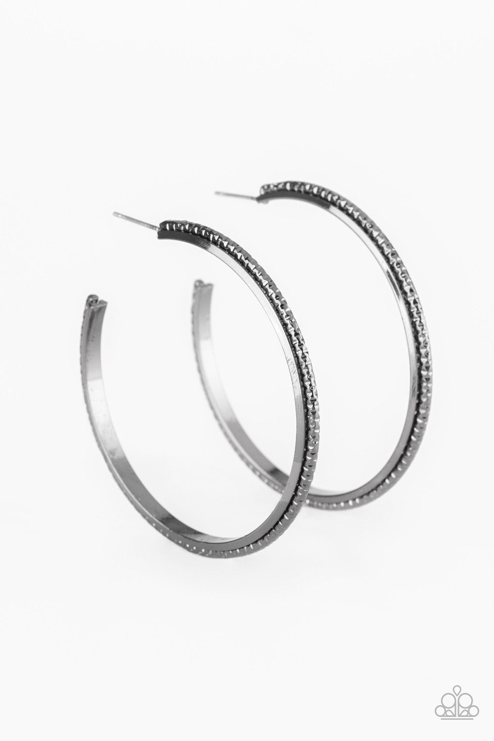 Girl Gang - Paparazzi Black Hoop Earring - Be Adored Jewelry