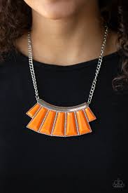 Glamour Goddess - Paparazzi Orange Necklace - Be Adored Jewelry