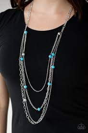 Glamour Grotto - Paparazzi Blue Necklace - Be Adored Jewelry