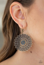 Load image into Gallery viewer, Globetrotting Guru - Paparazzi Brass Earring - Be Adored Jewelry