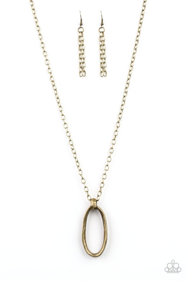 Paparazzi Grit Girl - Brass Necklace - Be Adored Jewelry