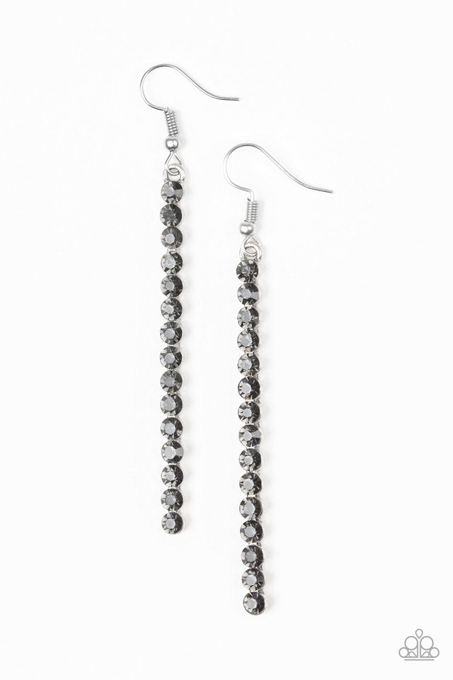 Grunge Meets Glamour - Paparazzi Black Earring - Be Adored Jewelry