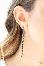 Load image into Gallery viewer, Grunge Meets Glamour - Paparazzi Black Earring - Be Adored Jewelry