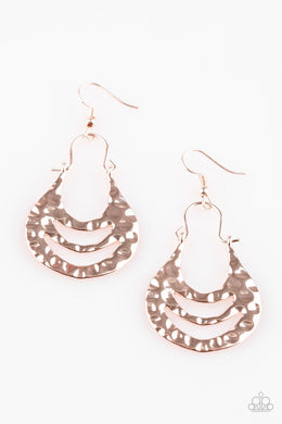 Hang ZEN! - Paparazzi Rose Gold Earring - Be Adored Jewelry