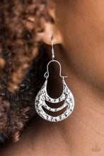 Load image into Gallery viewer, Hang ZEN! - Paparazzi Silver Earring - Be Adored Jewelry