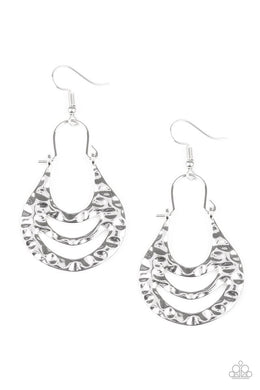 Hang ZEN! - Paparazzi Silver Earring - Be Adored Jewelry
