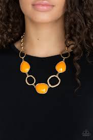 Haute Heirloom - Paparazzi Orange Necklace - Be Adored Jewelry