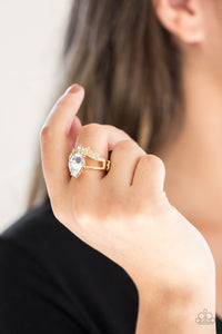 Paparazzi If The Crown Fits - Gold Ring - Be Adored Jewelry
