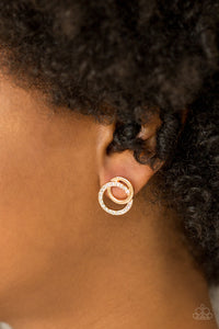 Paparazzi Accessories In Great Measure - Gold Post Earring - Be Adored Jewelry
