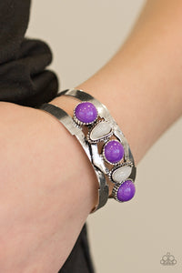 Paparazzi Accessories Keep On TRIBE-ing - Purple Cuff Bracelet - Be Adored Jewelry