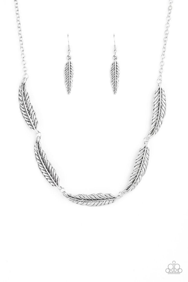 Paparazzi Accessories Light Flight - Silver Necklace - Be Adored Jewelry
