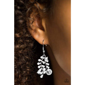 Paparazzi Accessories Make You VINE! - White Earring - Be Adored Jewelry