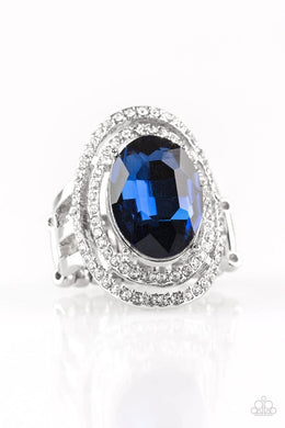 Paparazzi Making History - Blue Ring - Be Adored Jewelry
