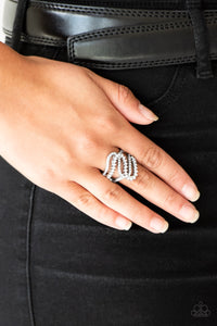 Paparazzi Accessories Making Waves - White Ring - Be Adored Jewelry