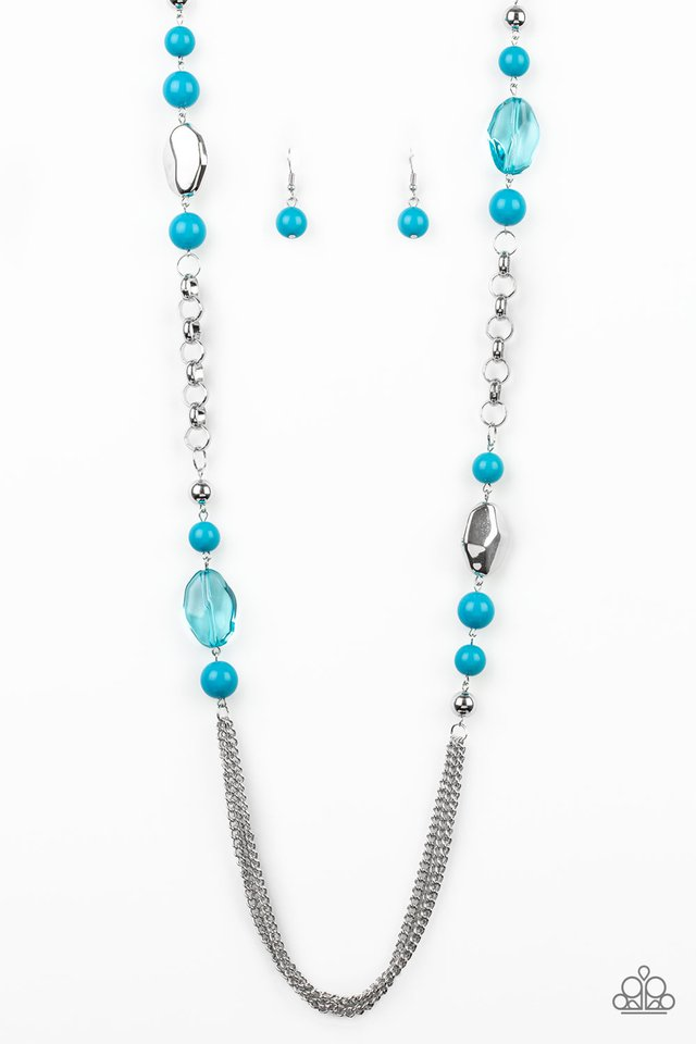 Paparazzi Accessories Marina Majesty - Blue Long Necklace - Be Adored Jewelry