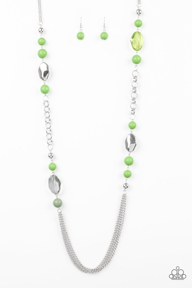 Paparazzi Accessories Marina Majesty - Green Necklace - Be Adored Jewelry