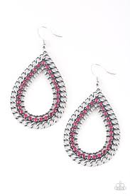 Be Adored Jewelry Mechanical Marvel Pink Paparazzi Earring