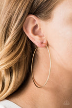 Load image into Gallery viewer, Paparazzi Accessories Meet Your Maker - Gold Hoop Earring - Be Adored Jewelry